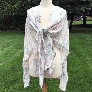 Urban Outfitters Ink Blot Shawl Scarf Wrap